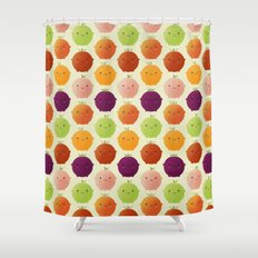Cutie Fruity (Watercolour) Shower Curtain
