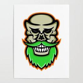Bearded Skull or Cranium Mascot Poster