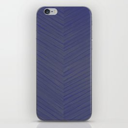 A Chevron in Blues and Greens iPhone Skin