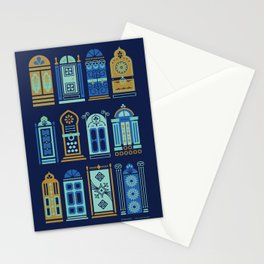 Moroccan Doors – Navy Palette Stationery Cards