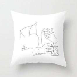 Whiskey Man Throw Pillow