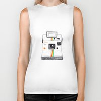 polaroid Biker Tanks featuring Polaroid by Mariam Tronchoni