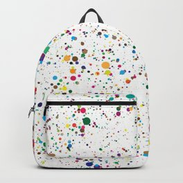 80s RAINBOW SPLATTER PAINT PATTERN Backpack