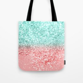 Summer Vibes Glitter #1 #coral #mint #shiny #decor #art #society6 Tote Bag