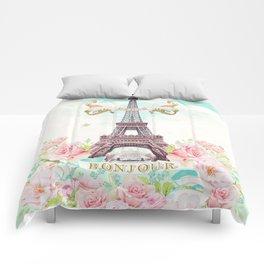 Eiffel Tower in Spring Comforters