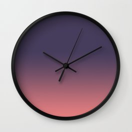 Purple to Coral Wall Clock