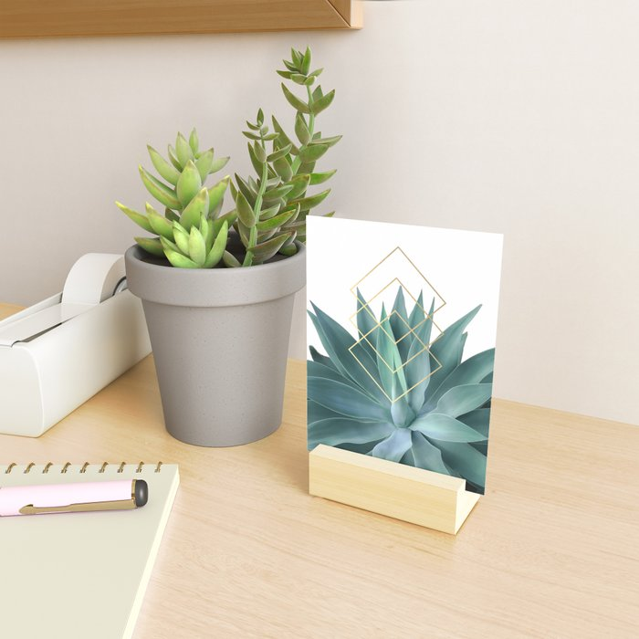 Agave geometrics Mini Art Print
