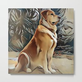 A Golden Retriever Metal Print