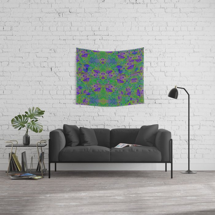 """""""Be yourself (Pop Fantasy Colorful Pattern)"""" Wall Tapestry"""