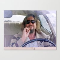 the big lebowski Canvas Prints featuring Lebowski  by Swift Sloth