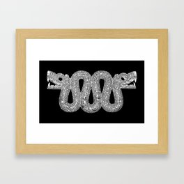Double Headed Serpent-Cosmic Serpent-Aztec-mythological symbol-Mesoamerica Framed Art Print