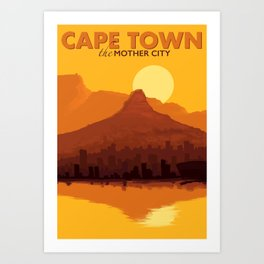 Cape Town - cityscape Art Print