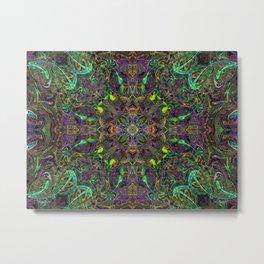 Rasta Patterns in the Jungle Canopy Metal Print