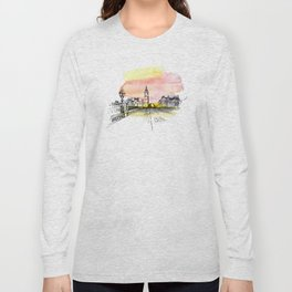 London, Big Ben. Watercolor and ink. Long Sleeve T-shirt