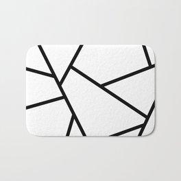 Black and White Fragments - Geometric Design I Bath Mat