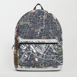 Seville city map engraving Backpack