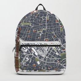 Seville city map engraving Backpack