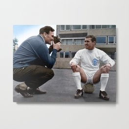 Bobby Collins and Don Revie Metal Print