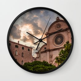 St. Jacob`s Chatedral Sibenik, Croatia Wall Clock