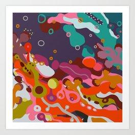 Floating Through Life Art Print