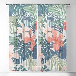 Summer flowers Sheer Curtain