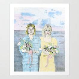 Kurt & Courtney's Wedding In Hawaii Art Print