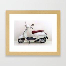 Vespa Motorbike Framed Art Print
