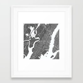 Jersey City USA Modern Map Art Print Framed Art Print