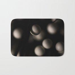 White Spheres Bath Mat