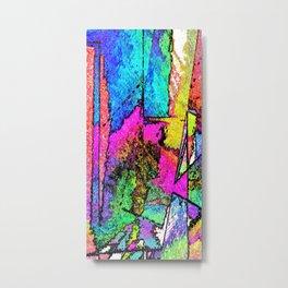Scraped Away Metal Print