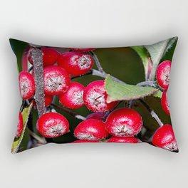 Brilliant red autumn berries - Aronia fruit Rectangular Pillow