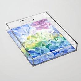 Flowers II Acrylic Tray