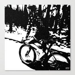 The Bike Rider Canvas Print