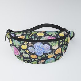 Winter Harvest Pattern Annotated - Dark Fanny Pack