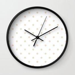 Polka Dots Pattern: Light Beige Wall Clock