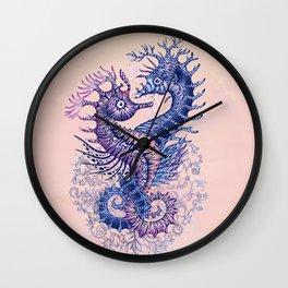 Seahorse tattoo Wall Clock