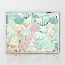 MERMAID SHELLS - MINT & ROSEGOLD Laptop & iPad Skin