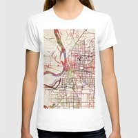 memphis T-shirts featuring Memphis by MapMapMaps.Watercolors