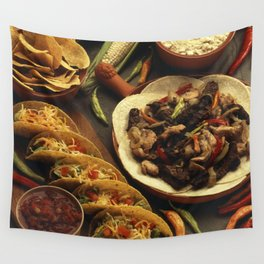 Mexican Food Wall Tapestry