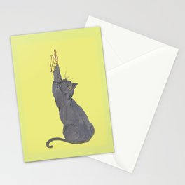 Cat love hurts  Stationery Cards