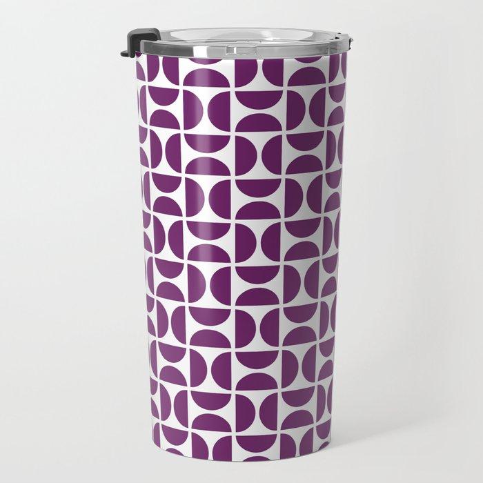 HALF-CIRCLES, PURPLE Travel Mug