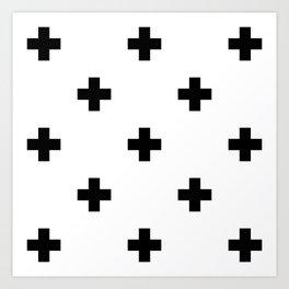 Swiss cross pattern Kunstdrucke