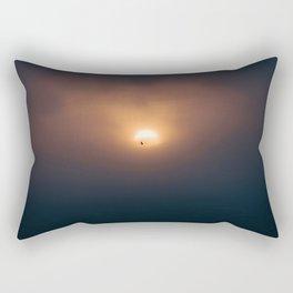 Sunset Ocean Bird in Ireland Rectangular Pillow
