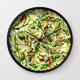 Crystal Golden Yellow Emerald Gems Wall Clock