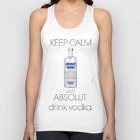 vodka Tank Tops featuring Keep calm vodka - BRivido by Raffaele Borreca