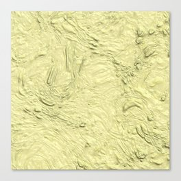 very thick painted, soft yellow Canvas Print
