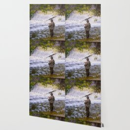 Trout fishing Wallpaper