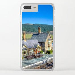 Carrog Railway Station Clear iPhone Case