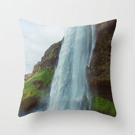 Vintage Seljalandsfoss Throw Pillow
