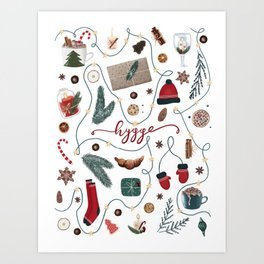 Hygge Christmas Collection Art Print